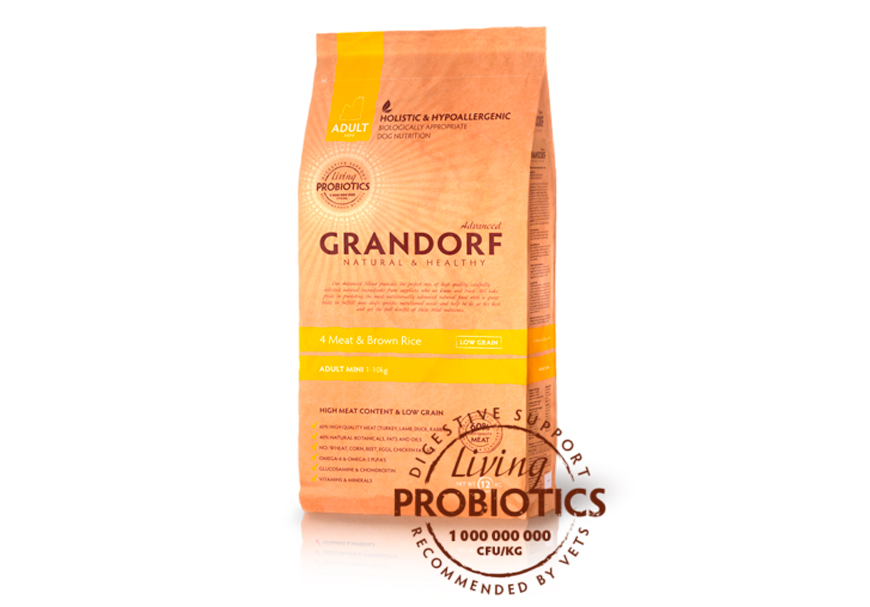 GRANDORF LIVING PROBIOTICS 4 MEAT & BROWN RICE
