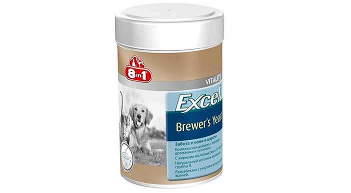 Excel brewers yeast 8in1 - витаминная добавка для добермана
