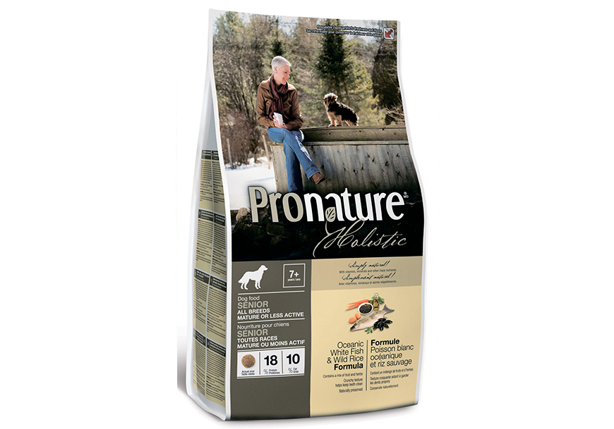 PRONATURE HOLISTIC Senior Oceanic White Fish and Wild Rice для пожилых собак
